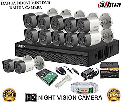 Dahua-DH-HCVR4116H-S2-16CH-Dvr,-12(DH-HAC-HFW1000RP-0360B)-Bullet-Cameras-(with-Mouse,-2TB-HDD,Cable,-Bnc&Dc-Connectors,Power-Supply)