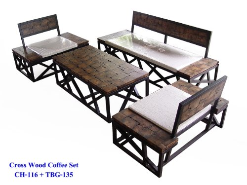 Solid Mango Wood Living Room Dinning Set Custom Sizes Available