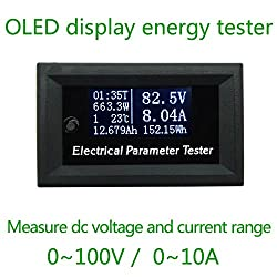 New HD OLED 100V DC Voltmeter display monitor tester Current Meters Charger voltage ammeter battery power supply capacity detection