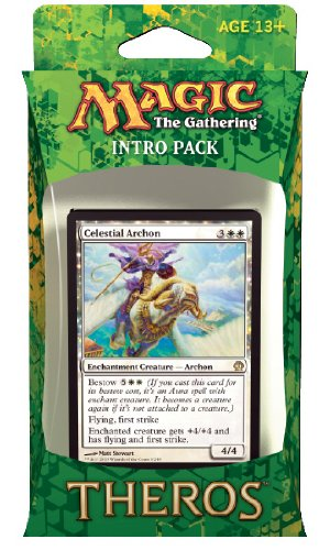 Magic the Gathering (MTG) Theros Intro Pack - Favors from Nyx Theme Deck (Includes 2 Booster Packs) White (Celestial Archon) - 1
