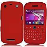 Supergets® Red Keypad Silicone Case For Blackberry Curve 9360, Screen Protector And Polishing Cloth