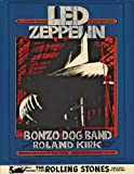 Vintage LED ZEPPELIN & BONZO DOG BAND Concert 250gsm ART CARD Gloss A3 Reproduction Poster
