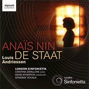 Andriessen Anas Nin De Staat London Sinfonietta from Signum Classics