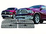 2009 2012 Dodge Ram Chrome Mesh Grille Grill Insert Overlay Trim 1500 Only