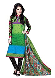 Pruthu Cotton Cotton Printed Dress Material Unstitched (pt_440_Green_Free Size)