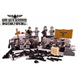 WW2 German Army , Soldiers and Guns Weapons set of 12 Minifugurs - Military Building Block Toy