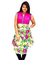 Aarti Collections Women's Cotton Kurti (AC-875B_Pink_Medium)