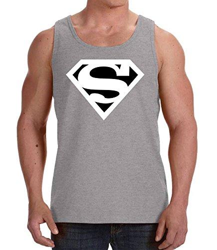 Youth Designz - T-shirt - Collo a U  - Senza maniche  - Uomo grigio XX-Large