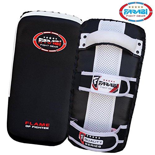 Thai-pad-Kick-Boxing-Punch-Pad-kick-Strike-Shield-Made-in-Rex-Leather-Black-X-1