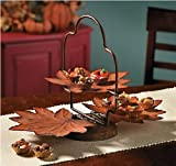 Two-Tier Autumn Leaves Server Seasonal Thanksgiving and Fall Decor