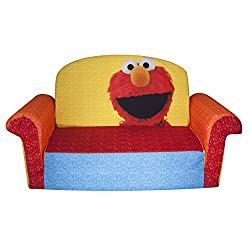 Marshmallow Furniture Elmo/Sesame Flip Open Sofa