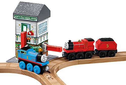 Fisher-Price Thomas the Train Wooden Railway Christmas Crossings [Amazon Exclusive] JungleDealsBlog.com
