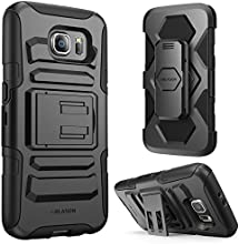 Galaxy S6 Case, i-Blason Prime [Kickstand] Samsung Galaxy S6 2015 Release **Heavy Duty** [Dual Layer] Combo Holster Cover case with [Locking Belt Swivel Clip] (Black)