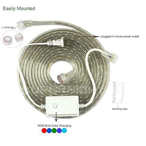 supernight 33 39 10m 5050 110v plug in rgb color changing led rope lights for christmas festival. Black Bedroom Furniture Sets. Home Design Ideas