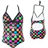 Roxy L8tr Sk8tr Fandango Tank Swimsuit - Little Girls'