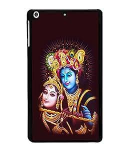 printtech Lord Radha Krishna God Back Case Cover for Apple iPad Mini 3