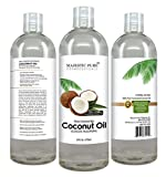 Aromatherapy Carrier Oils - Fractionated Coconut 16 Oz Carrier Oil - 100% Pure & Natural - Massage & Many Hair & Skin Benefits - Base Oil for Therapeutic Recipes & Essential Oils - Safe Moisturizer & Softener- Buy Now - Best Guarantee