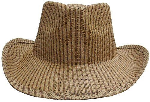 [New Men Women Cap Outdoor Sun Protection Big Brim Straw Hat - Beige] (Leopard Cowboy Hat)