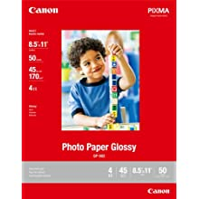Canon Photo Paper Glossy, 8.5 x 11 Inches, 50 Sheets (0775B023)