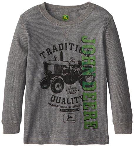 John Deere Little Boys' Long Sleevethermal Tradition, Grey, 7 front-402471