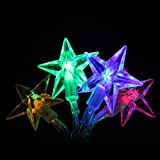 EiioX RGB Multi Color 4m 13ft 40 LED Battery Powered Fairy Lights LED Lights Stars for Christmas - Partys - Weddings - Family