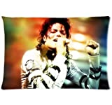 Cotton and Polyester two sides printing pillowcase with Michael Jackson picture standard size 20