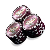 Sleeve of 25 Las Vegas $500 Purple Poker Chips Clay 11.5gby Bullets Poker