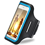 iBenzer Premium Water Resistant Exercise Armband with Key & ID Card Holder For iPhone 6, 6S and 4.7 Inch Screen Phone Reflective Strip Blue US-AB0147BL