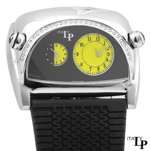 Ne Exotic LP Italy Lucien Piccard Lorenzo Pozzan Dual Time Racing Diamond Watch