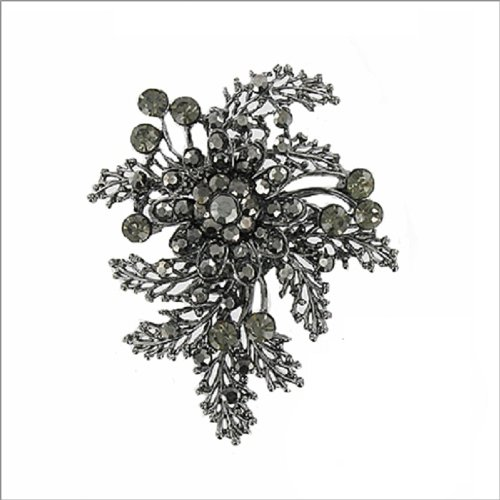 Flower with Leaf Design Pin #039852