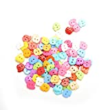 Generic Random Color 100Pcs Apple Pattern 10mm DIY Buttons Sewing Clothes Button