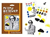 Michael Fish Retro Weather Fridge Magnets