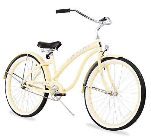 Firmstrong Bella Classic Single Speed Beach Cruiser Bicycle, 17X26-Inch, Vanilla front-651607