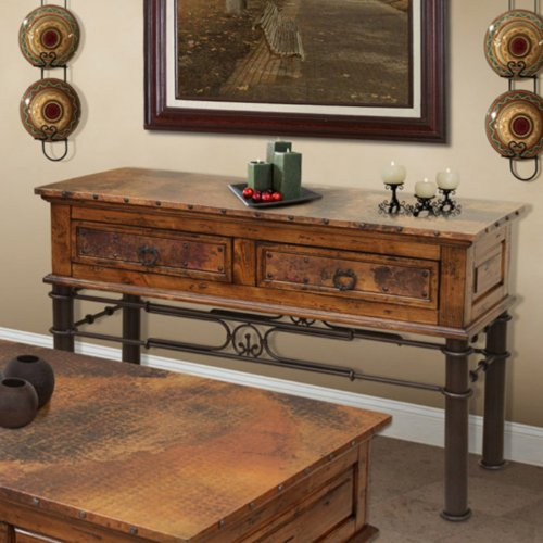 Cheap Artisan Valencia Copper Console Table with Storage (IFD300CONS)