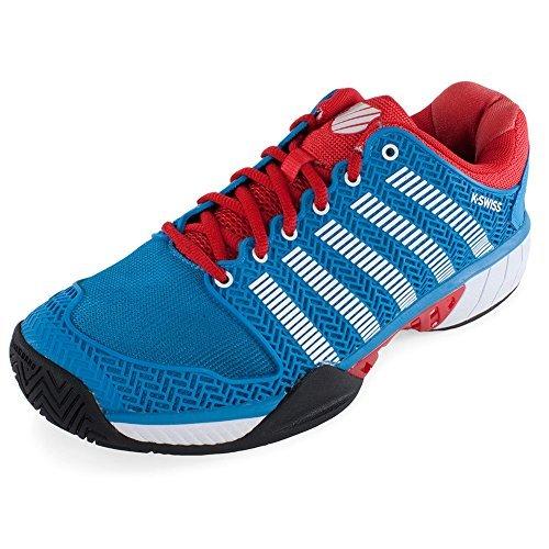 K-Swiss Hypercourt Express Mens Tennis Shoes (Methyl Blue/Fiery Red/White) (11 D(M) US)