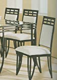 Set of 2 Matrix Style Sandy Black Metal Dining Chairs