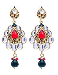 Sheetal Creations Gold Plated Dangle And Drop Earrings For Women (Scer0024)