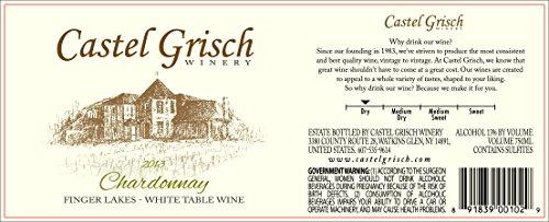 2013 Castel Grisch Chardonnay Finger Lakes 750 Ml