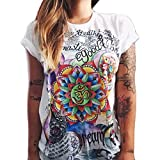 Kolylong Frauen Sommer Cool Fashion T Shirt (XL (EU 40))