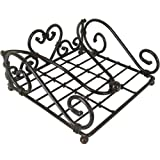 Dark Metal Square Vintage Design Napkin Holder
