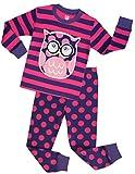Girls Pajamas Children Christmas Sleepwear Toddler Owl Clothes Size 7 Years