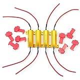 Amazon.co.jpLED Load Resistor 4 X 50W 6ohm Fix Bulb Fast Hyper Flash Tail Signal Blink Sales 負荷抵抗4×50W6ohmフィックス電球