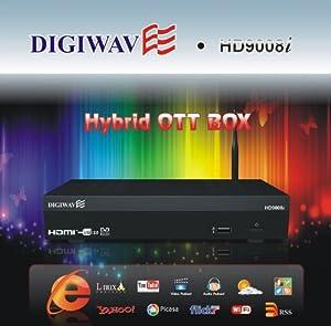 Digiwave Hybrid OTT Box IPTV Satellite Receiver USB PVR HD9008I