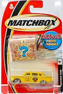 2004 Mattel Matchbox #4 Checker Taxi Bonus Prize Inside Very Rare 1:64 Scale / Die Cas