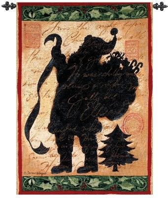 Christmas Silhouette by Susan Winget Vintage Style Wallhanging Wall Panel Hanging 26″ x 36″
