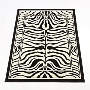 Flair Rugs Wildlife Zebra Rug, Black/White, 120 x 160 Cm from Flair Rugs