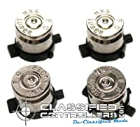 Sony PS3 Bullet Buttons - Nickel Finish Real Fired Bullets - ClassifiedControllers