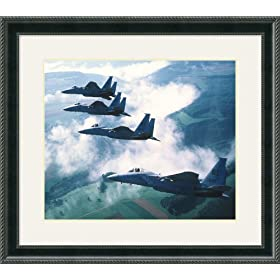 F-15 Eagles Framed Art Print
