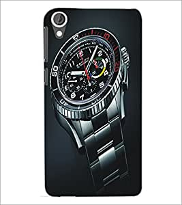 PrintDhaba Watch D-5142 Back Case Cover for HTC DESIRE 820 (Multi-Coloured)