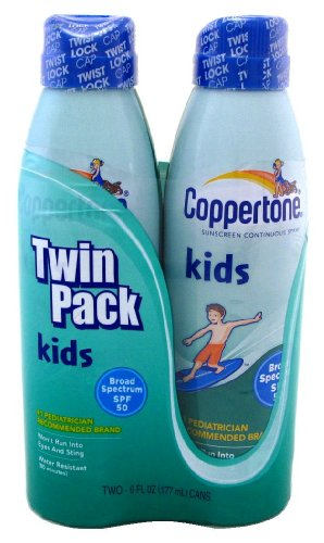 Coppertone Sunscreen SPF 50 Continuous Spray Kids, 12 Count